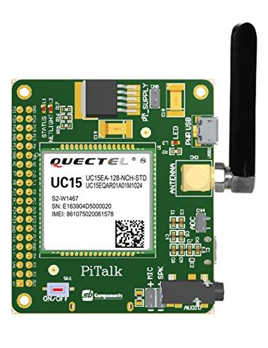 PiTalk - 3G IOT-fähiger und modularer Smartphone-Hut für Raspberry Pi, 3G / GSM-Schild für Raspberry Pi (EU-Version)