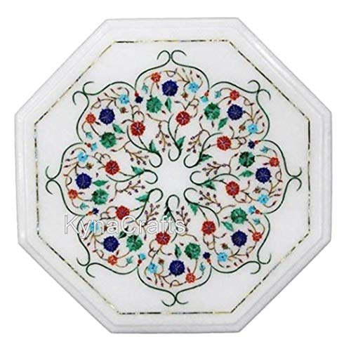 16 x 16 Inches Multi Gem Stones Inlaid Coffee Table Top Hand Crafted Sofa Side Table Top Perfect Office Decor Furniture