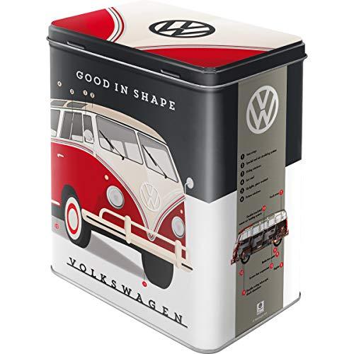 Nostalgic-Art Retro Vorratsdose L Volkswagen – Good in Shape – Geschenk-Idee für VW Bus Fans, Große Kaffee-Dose aus Blech, 3 l