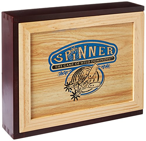 Spinner: The Game of Wild Dominoes Wooden Box