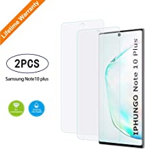 Galaxy Note 10+ Plus Screen Protector, Tempered Glass for Samsung Galaxy Note 10 Plus, 3D Curved Tempered Glass, Finger Print Compatibles, HD Clear, Easy Installation, 5G (2019) - 2 Packs