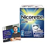 Nicorette Nicotine Gum with Quit Support System, 2mg, 12 Weeks Quit Smoking Aid, White Ice Mint, 160 Count