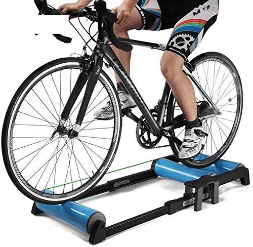 Instructor de bicicletas, bicicletas Capacidad plegable Rollo Resistencia Formadores interior de carretera ocasion la bicicleta estática estación de entrenamiento antes del partido, en las afueras