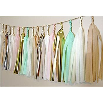 12/x Design Tissue papier Quasten f/ür Party Hochzeit Gold Girlande Wimpelkette Pom Pom