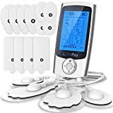 Muscle Pain Tens Unit, Ohuhu AS1080 TENS & Powered Muscle Stimulator Massager Rechargeable 24 Modes and 16 Pads Muscle Stimulator, Electric Massager for Back Neck Shoulder Pain Relief Valentine's Day