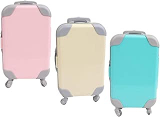 """LuDa 3X Lovely Mini 18"""" Doll Suitcase Luggage Trunk Fit for 43cm Generation Doll Gift"""