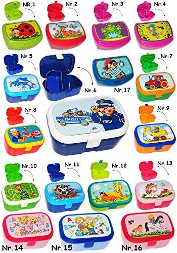 Brotdose / Lunchbox -  Traktor & Bauernhof  - mit herausnehmbaren Fach / extra Einsatz - Brotbüchse Küche Essen - für Mädchen & Jungen - Traktoren / Landmas..