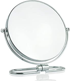 AINIYF Makeup Mirror Double Sided Vanity Mirror with Tabletop Magnifying Mirror Swivel Round Mirror with 360°Rotation Retro Style Bathroom (Color : 10-fold, Size : 20cm)