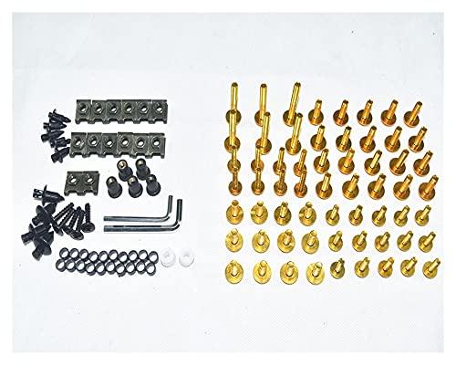 DFMY CNC Tornillos de carenado completos Cuerda Tornillos Tuercas Nuts Fit para Kawasaki Z650 Z750 Z800 Z900 Z1000 (Color : Gold)