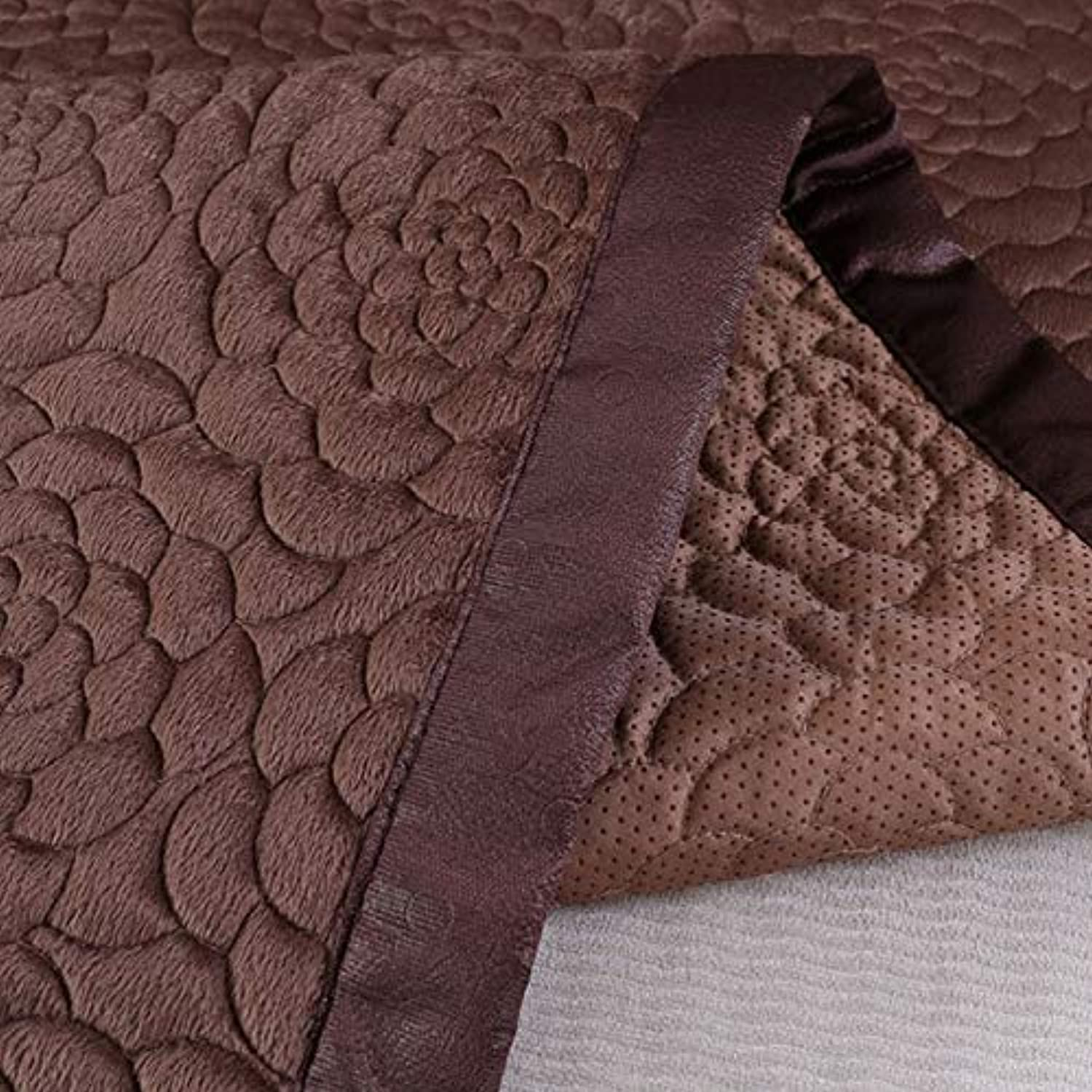 8 colors Sofa Covers Fleece Fabric Knit Eco-Friendly Anti-Mite Manta Sofa Slipcover Couch Cover for Living Room Sofa Towel Mats   1PCS Coffee, 70x150cm 1pc