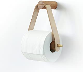 QWH Kitchen Bathroom Toilet Roll Holder Door-Wall Roll Storer Home in Wood Lounge Restaurant Modern Office Simple, 16 * 16Cm
