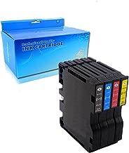 Lic-Store Compatible Ricoh GC41 GC41BK GC41C GC41M GC41Y Ink Cartridge for Ricoh IPSIO SG 2100 2010L 3100 3110 (1 Black 1 Cyan 1 Yellow 1 Magenta 4PK)