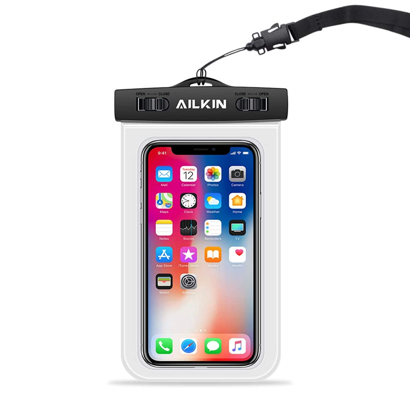 AILKIN Mobile Waterproof Bag, Cell Phone Dry Pouch, Floating Waterproof Phone case, Under Water Cell Phone Cover, Universal Water Resistant Phone case for iPhone 10 XR 8 Plus, Samsung Galaxy 10-6.3''