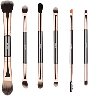 Double Ended Makeup Brushes, 6pcs Mutipurpose Cosmetic Brush Set For for Eyeshadow Blending Powder Foundation Buffer