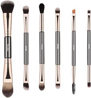 Yuwaku Double Ended Makeup Brushes, 6pcs Mutipurpose Cosmetic Brush Set For for Eyeshadow Blending Powder Foundation Buffer