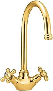 Deva SM057/501 Venetian Mono Kitchen Sink Mixer Tap with Gold Finish