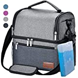 Insulated Lunch Bag, STNTUS Leakproof Cooler Lunch Box with Ice Pack and Strap