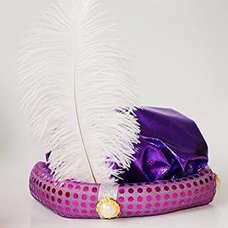 جاكي علاء الدين قبعة هالوين حفلة تنكرية الكبار الأطفال الطرف القبعات الأداء مع القبعات (الذهب الأحمر والأرجواني) 紫色阿拉丁帽