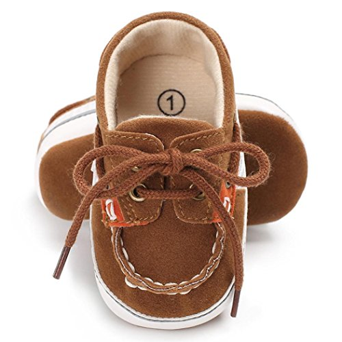 Chaussures bébé,Xinan Chaussures Garçon Fille Cuir Souple Automne Chaussures Mode (6~12M, Cafe)