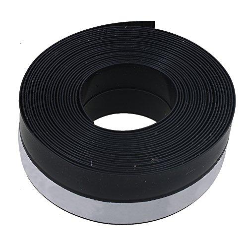 RDEXP Tira de Sellado de Caucho de burlete Negro de 25 mm x 1 mm 5 Metros para Puertas de Garaje correderas Windows