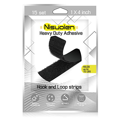 15 Sets 1 x 4 Inch Strips with Adhesive, Double Sided Mounting Adhesive Tape for Wall Crafts, Heavy Duty