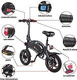 Zoom IMG-1 dyu bicicletta elettrica pieghevole 14