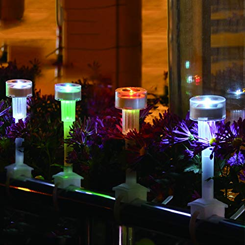 DJSDFHB LED luz de la barandilla Solar, Villa jardín jardín luz Paisaje balcón luz Luminosa lámpara mágica lámpara Colgante (6),B