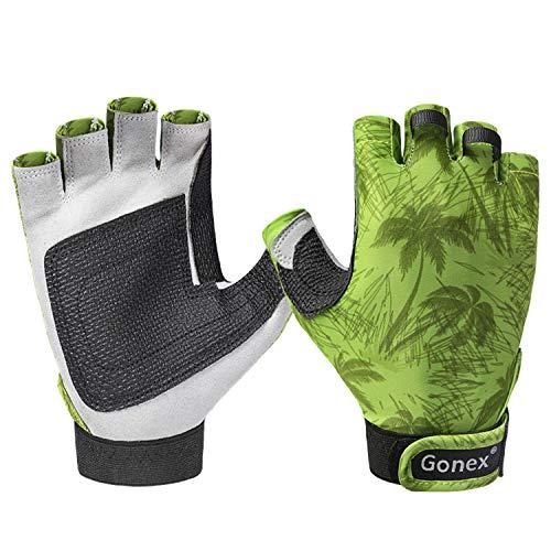 Guantes de pesca Gonex, guantes sin dedos para...