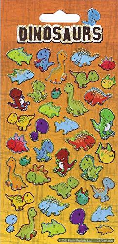 Paper Projects 01.70.04.020 Stickers réutilisables Motif dinosaures 19,5 cm x 9,5 cm