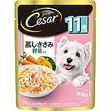 シーザー パウチ シニア犬用 11歳からの 蒸しささみ 野菜入り 70g×16個 (まとめ買い [ドッグフード・ウェット]
