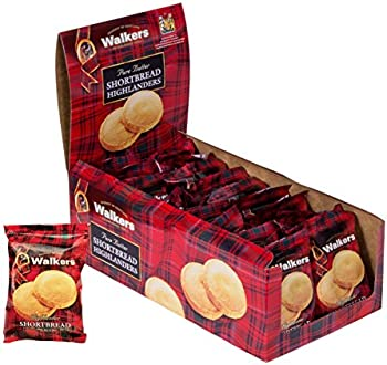 18-Count Walkers Shortbread Highlanders Shortbread Cookies Snack Packs