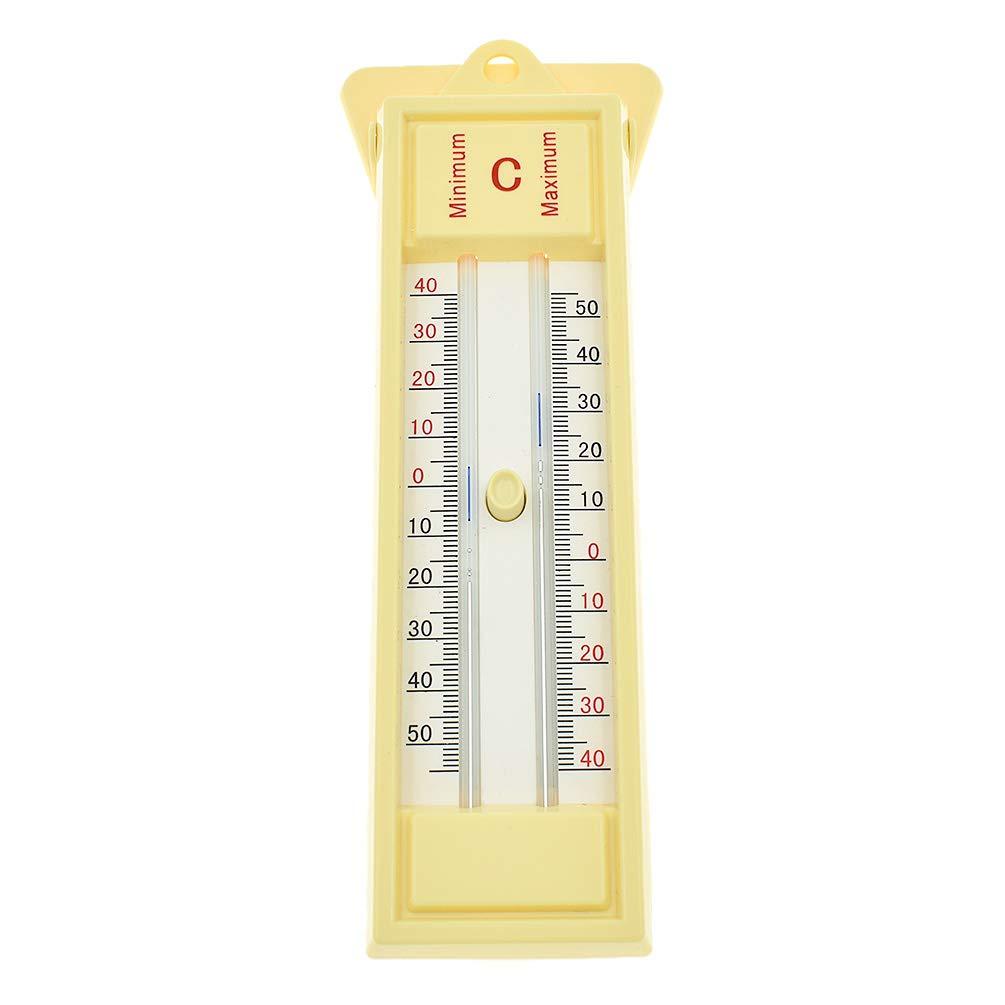 Kesheng Termómetro Tradicional de Temperatura Máxima Mínima para Exterior Jardín: Amazon.es: Hogar