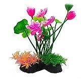 CHOUREN Plantas plásticas del tanque de peces del acuario, plantas del acuario decoraciones del pecero, plantas artificiales del acuario decoración del acuario