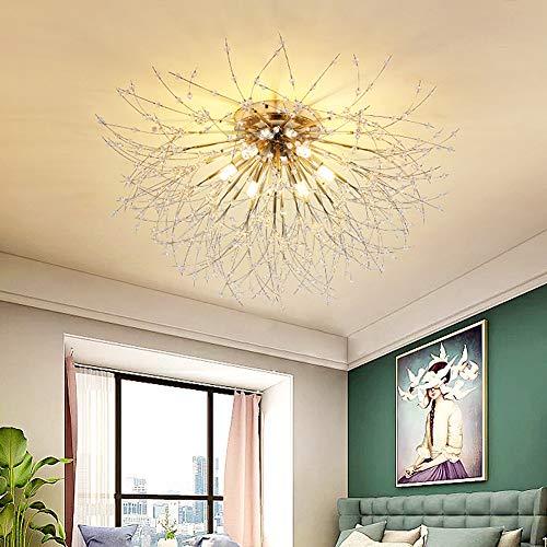 Lámpara LED de techo para salón, regulable, cristal, lámpara de techo moderna, redonda, diseño rústico, para dormitorio, comedor, baño, pasillo, bar, decoración