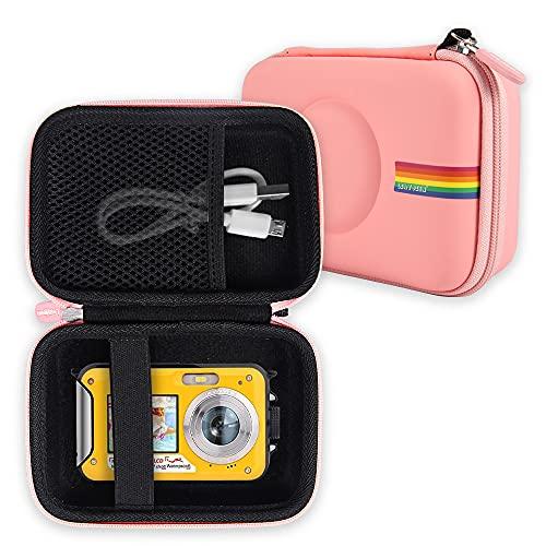 Leayjeen Waterproof Camera Case Compatible with Underwater Camera FHD 2.7K 48 MP Waterproof Camera Underwater Digital Video Camera Snorkeling Water Camera,Waterproof Camera Digital (Case Only) (Pink)