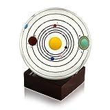 Sumnacon Clear Crystal Ball Sphere 80mm / 3 inch , Solar System Crystal...