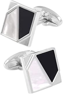 French Tuxedo Shirt Square Cufflinks Mens Party Wedding Clothing Cuff Links