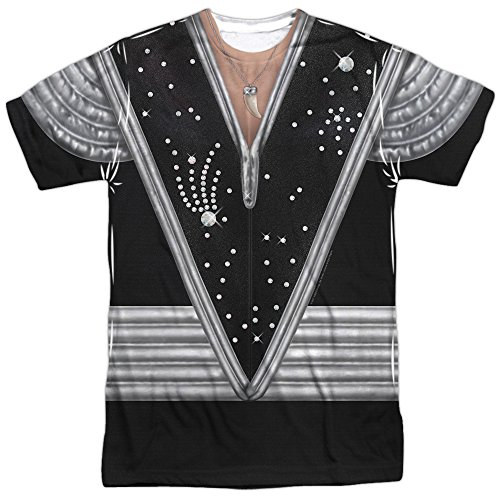 Kiss Spaceman Costume Unisex Adult Front Only Sublimated T Shirt for Men and Women White