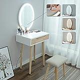 eklipt - Tocador de Maquillaje, Espejo de Mesa de cosméticos Vanity tocador,...