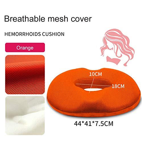 LJlucky Coccyx Orthopedic Memory Foam zitkussen, perfect voor je bureaustoel en op de vloer. Helpt bij ischias- en rugpijn.