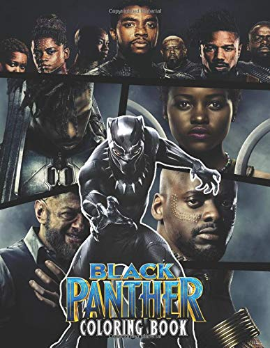 Black Panther Coloring Book: Black Panther coloring pages suitable for both Children & Adults, featuring over 50 pictures of Black Panther, ... wide standard paper size. Happy Coloring!