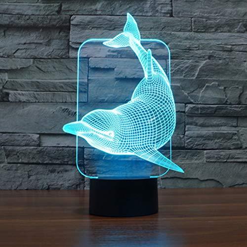 La lampe illusion 3D dauphin
