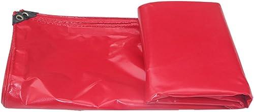 Bache HUO Rouge pour La Couverture D'articles, Tissu Durable De Hangar, Toile Anti-UV Imperméable, 450g   M2 (Couleur   Rouge, Taille   6  8m)