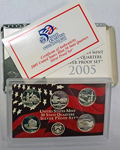 2005 S Silver Statehood Quarters Proof Set Original Government Package