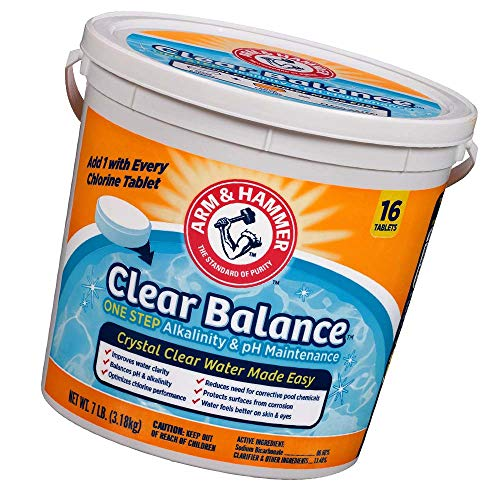 Arm & Hammer Clear Balance Pool Maintenance Tablets, 16 Count (New Version)