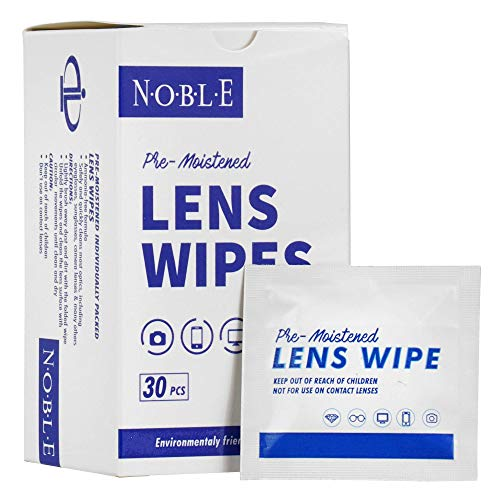 Noble Pre-moistened Lens Wipes Individually Wrapped - Lens and Screen...