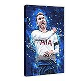 Super Star Soccer Player Christian Eriksen Sports Poster 02 Canvas Poster Decoración de dormitorio Deportes Paisaje Oficina Decoración Regalo 40 × 60 cm Frame-style1
