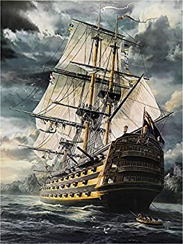 Jigsaw Puzzles for Adults 1000 Pieces-Pirate Ship Jigsaw Puzzles,Best Wooden Jigsaw Puzzles Game Set -29.5  L X 19.7  W