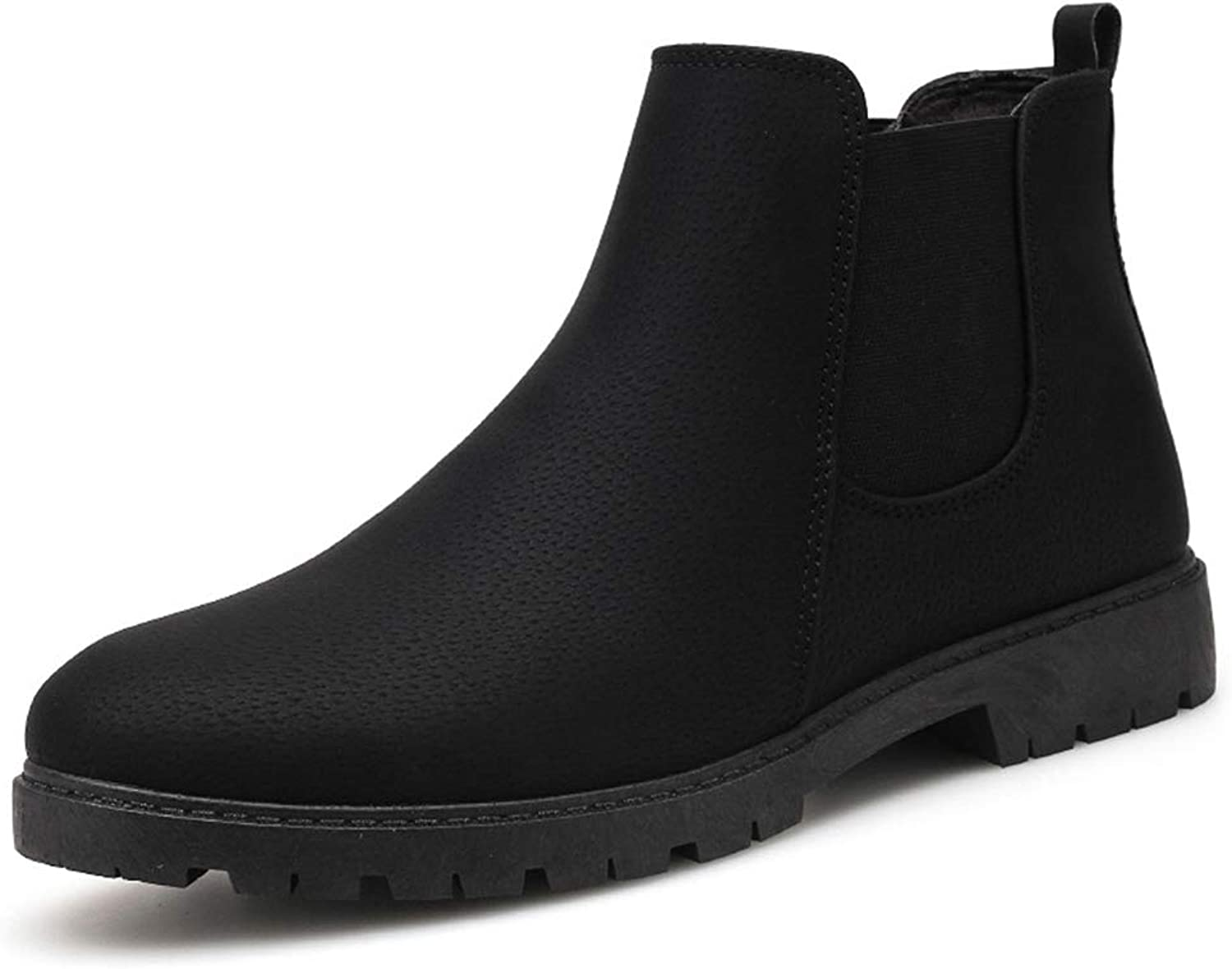 Men'S shoes, Fall Winter Retro New Ankle Boots British Sleeve Men'S Boots High-Top Chelsea Boots Martin shoes,B,44