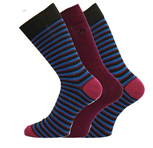 Socks Uwear - Chaussettes basses - Imprimé Aztèque - Homme - Violet - Large